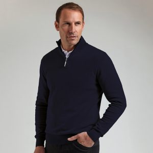 g.Devon zip-neck cotton sweater (MKC7381ZN-DEV)