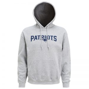 New England Patriots large logo hoodie
