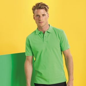 MenÌ´åÈs poly/cotton blend polo