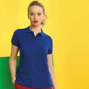 WomenÌ´åÈs poly/cotton blend polo