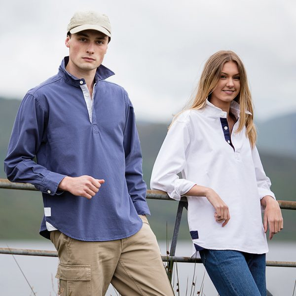 Long sleeve plain drill shirt