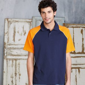 Polo base ball contrast polo shirt