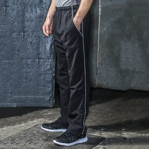 Open hem lined training bottoms