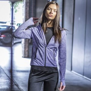 Women's lightweight running hoodie with reflective tape