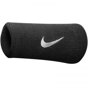 Swoosh doublewide wristbands (one pair)